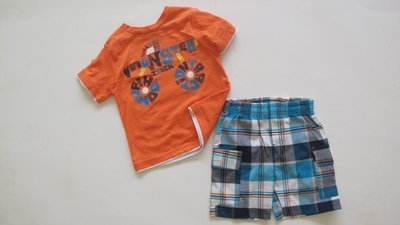 2 pc Plaid Short Set