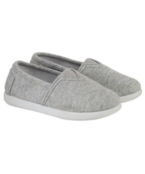 Grey Marl Canvas Shoe