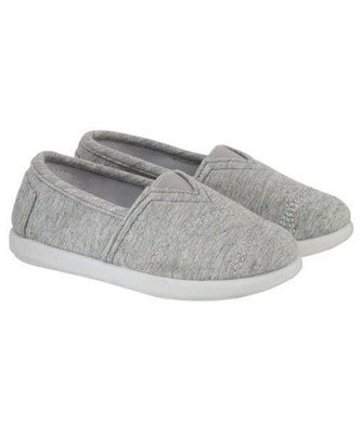 Grey Marl Canvas Shoe