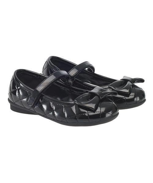 Black Patent Shoes(black with black ribbon)