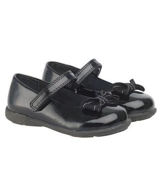 Black Patent Shoes(black with black ribbon)