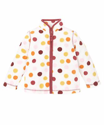 Polka dots Fleece Zip Through Cardigan