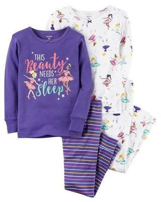 2-Piece Ballerina Snug Fit Cotton PJs