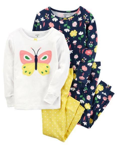 2-Piece Butterfly Snug Fit Cotton
