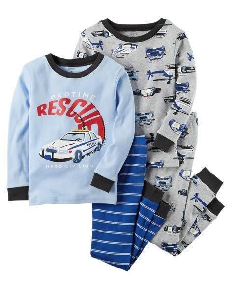 2-Piece Rescue Snug Fit Cotton PJs