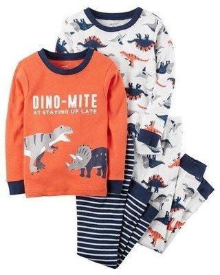 2-Piece Dino-Mite Snug Fit Cotton PJ