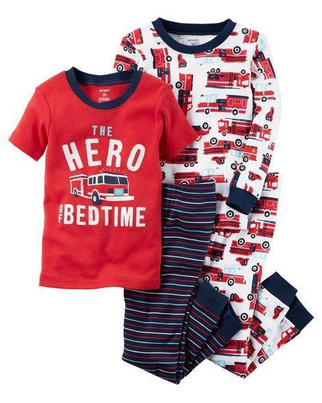 2-Piece Red Hero Snug Fit Cotton PJs