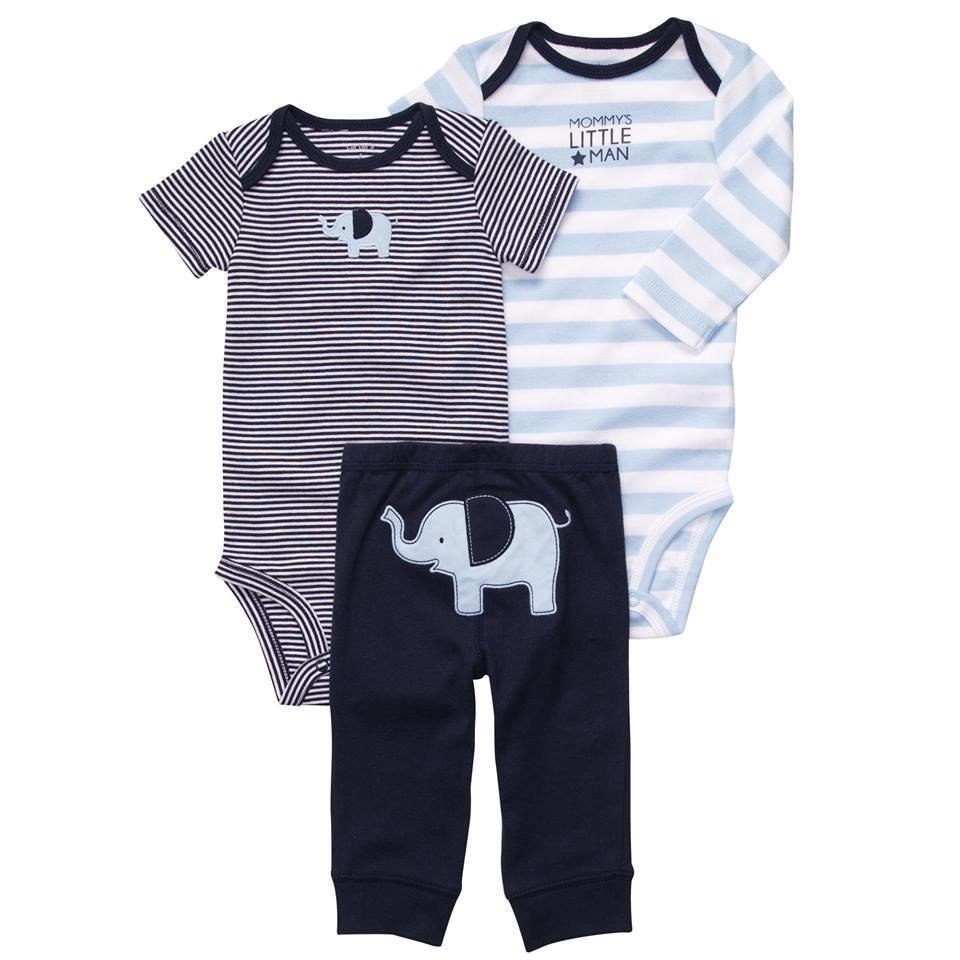 3-Piece Mommys Little Man Bodysuit Pant Set