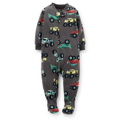 1-Piece Microfleece Zip-Up Sleep & Play