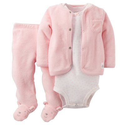 3-piece Bodysuit ,cardigan and pant set