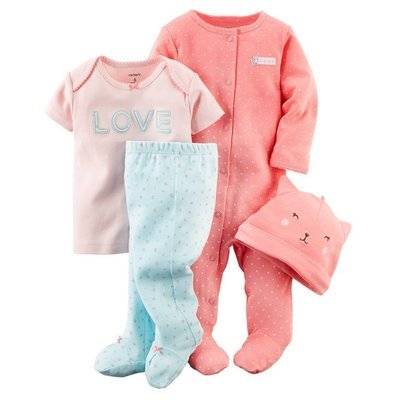 4piece Romper TEE hat and pants