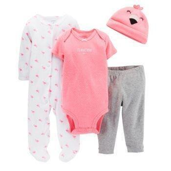 4piece Bodysuit pants romper and hat set