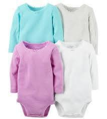 4-Pack Long-Sleeve Bodysuits