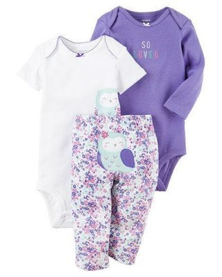3-Piece Little Purple Character Set