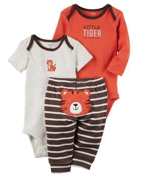 3-Piece Orange Little Character Set