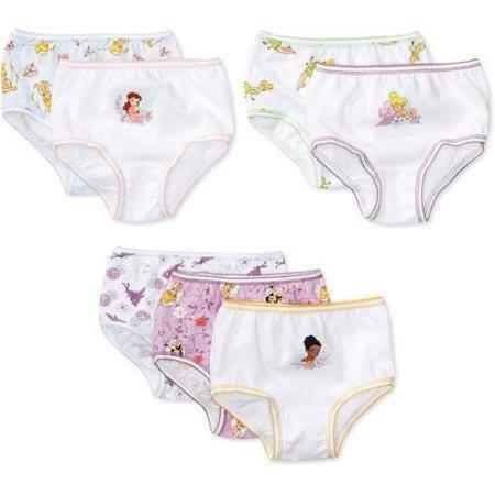 Disney Toddler Girls' Tinker Bell Underwear, 7-Pack