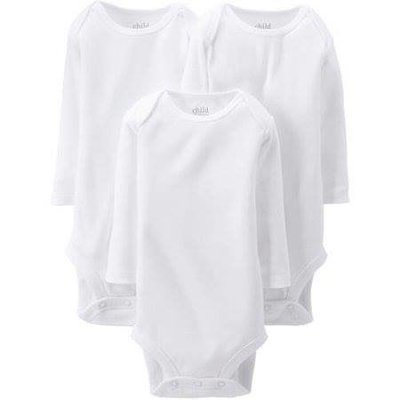 Newborn Baby Long Sleeve Bodysuits, 3-Pack