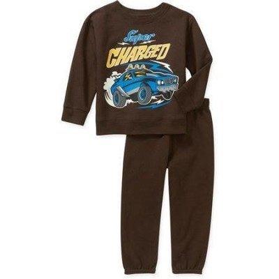 Baby Toddler Boy Graphic Fleece Top and Pants 2-Piece Set
