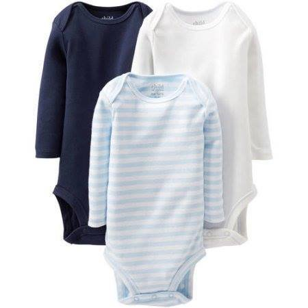 Newborn Baby Boy Long Sleeve Bodysuits