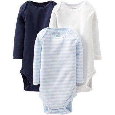 Newborn Baby Boy Long Sleeve Bodysuits