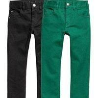 Black/green trouser rergular fit