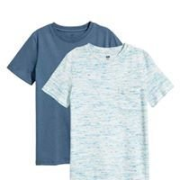 Dark blue washed out 2 Pack T Shirt