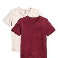 Burgandy 2 Pack T Shirt