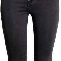 Black washed out super stretch trousers