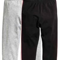 Grey marl 2 pack 3/4 length leggings