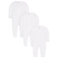 3 Pack white sleep suits