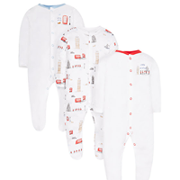 3 Pack Sailor sleep suits