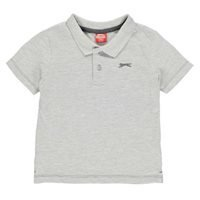 Grey marl Slazenger Plain Polo Shirt Infant Boys