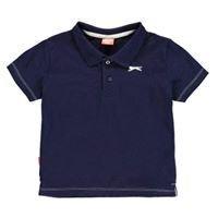 Navy Slazenger Plain Polo Shirt Infant Boys