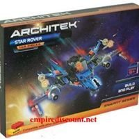 Snap together 148 pc space building kit