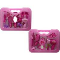 Beauty playset in carry along case