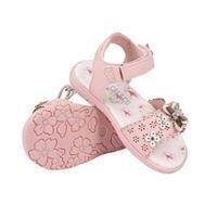 Pink SoulCal Vel Strap Sandals Infant Girls