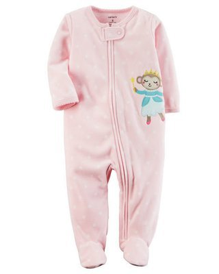 Pink Fleece Zip-Up Sleep & Play