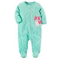 Mint Fox Zip-Up Fleece Sleep & Play