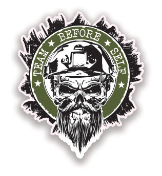 "TBS 3"" Skull Decal (Small)"