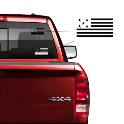 TBS 5 Star Flag Decal
