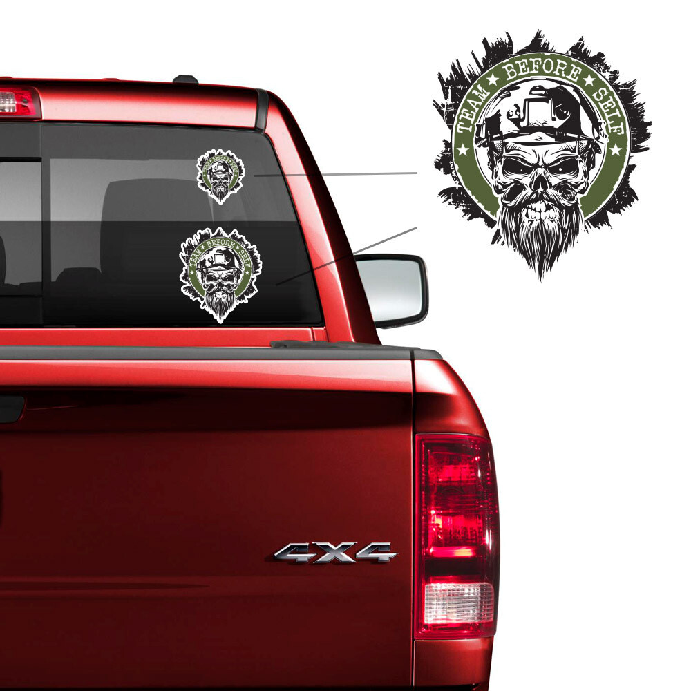 "TBS ""Master Chief"" Skull Decal"