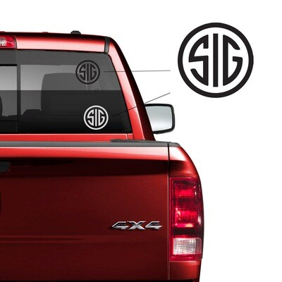 SIG Car Decal
