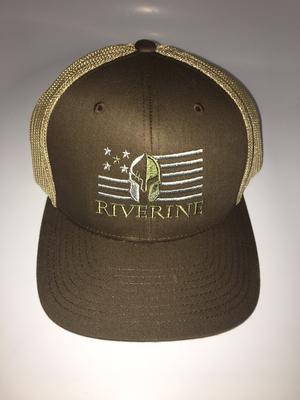 SZ6 Riverine 6511 Brown / Khaki Trucker hat by Flexfit