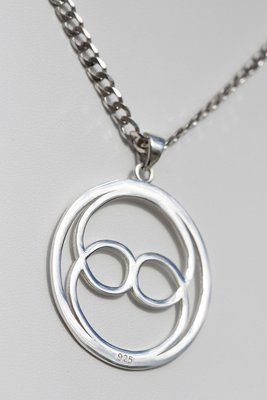 Intuition Sterling Silver Medium Pendant