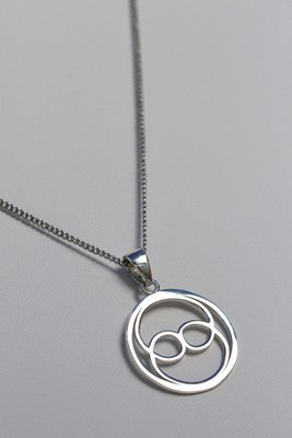 Intuition Stainless Steel Oneness Symbol Pendant
