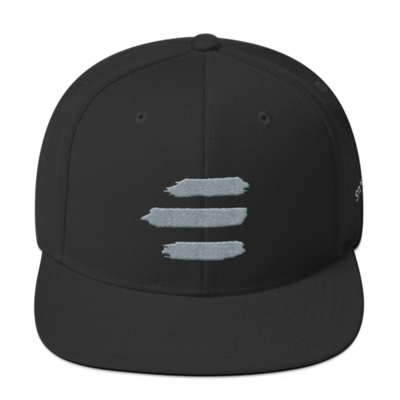 E Logo Hat - Gray/Black