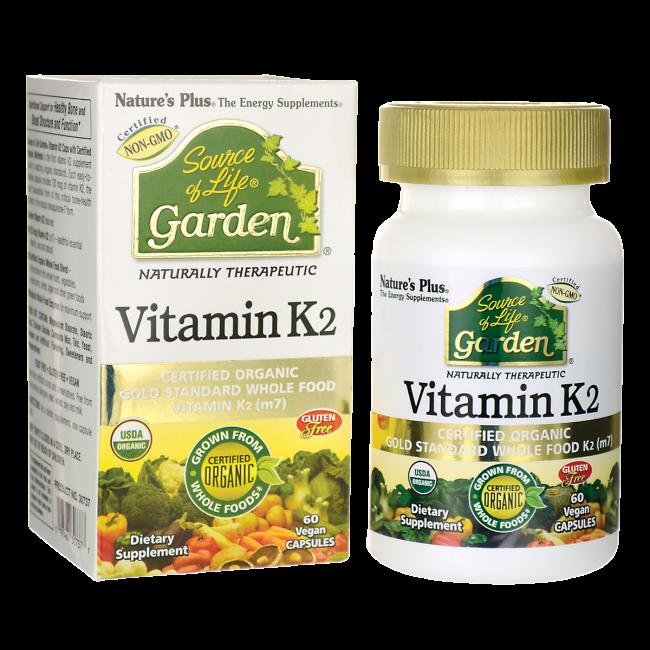 ויטמין K2 טבעוני אורגני, על בסיס מזונות אורגניים מלאים