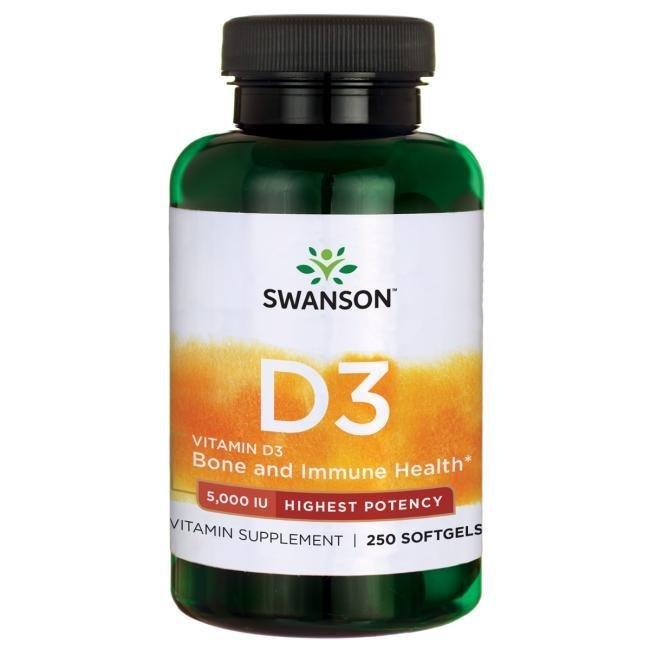 ויטמין D5000 - 250 כמוסות
