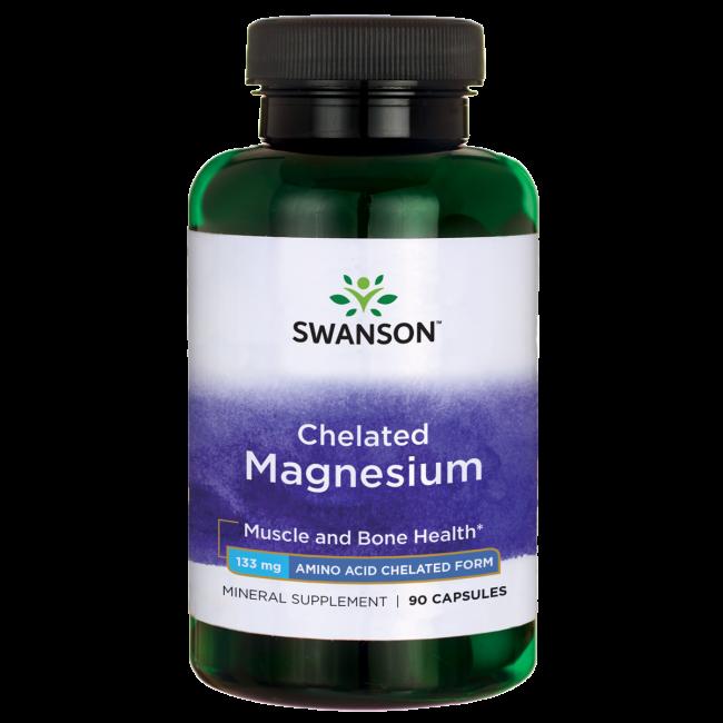 """מגנזיום גליצינאט 133 מ""""ג  Magnesium Glycinate 90c"""