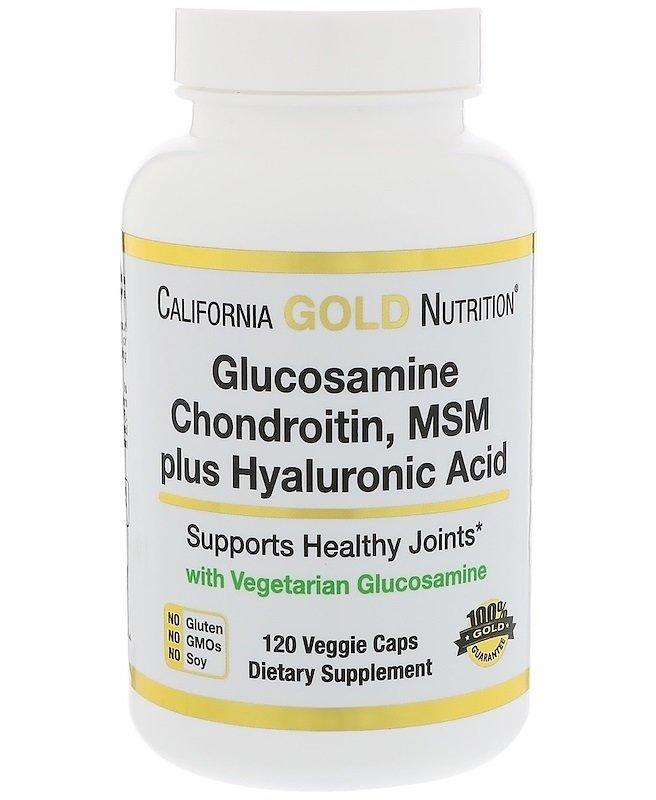 גלוקוזמין טבעוני, כונדרואיטין MSM וחומצה היאלורונית בכמוסות צמחיות